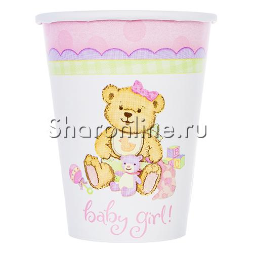 "Фото №1: Стаканчики ""Baby Girl"" Медвежонок девочка 190мл 6шт"