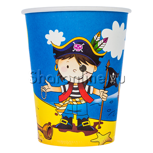 """Фото №1: Стаканчики """"Маленький пират"""" 6 шт"""