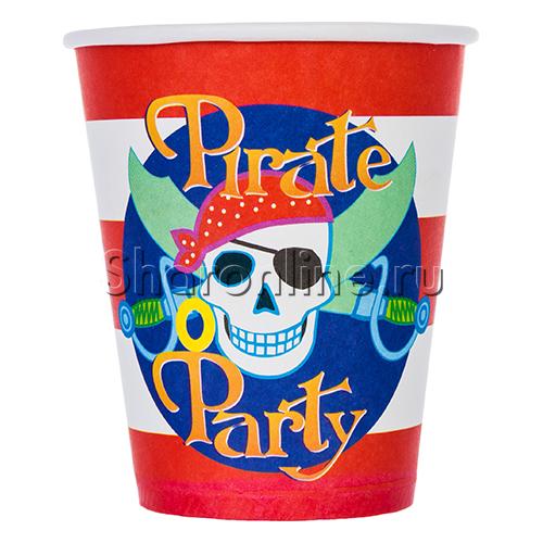 """Фото №1: Стаканчики """"Пираты"""" 190мл 6шт"""