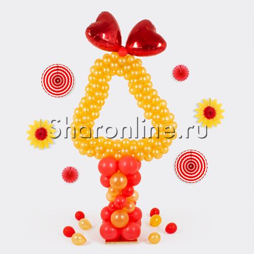 """Фото №1: Стойка из шаров """"Колокольчик"""""""