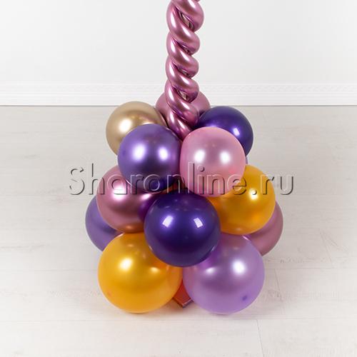 """Фото №3: Стойка из шаров """"Млечный путь"""""""