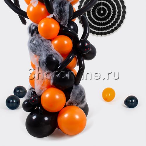 """Фото №2: Стойка из шаров """"Пауки"""""""