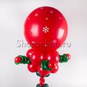 """Фото №2: Стойка из шаров """"Рождественская"""""""