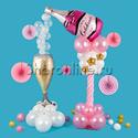 """Фото №2: Стойка из шаров """"Розовое шампанское"""""""
