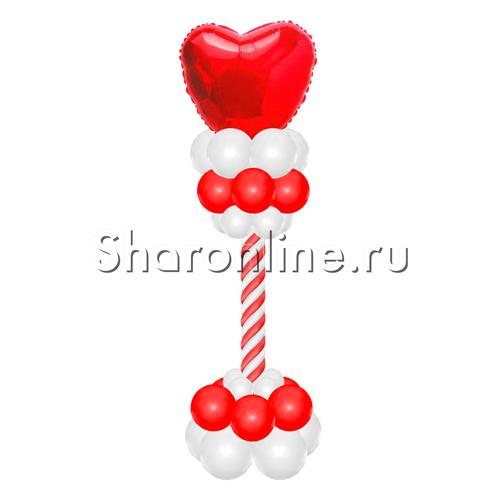 """Фото №2: Стойка из шаров """"Сердце"""""""