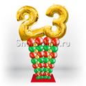 """Фото №3: Стойка из шаров """"Стильная дата"""""""