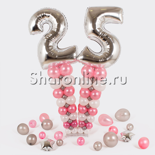 """Фото №1: Стойка из шаров """"Стильная дата"""" для неё"""