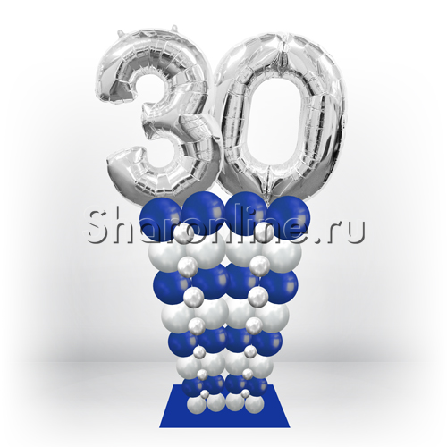 """Фото №2: Стойка из шаров """"Стильная дата"""" для него"""