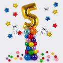 Фото №1: Столбик из шаров ассорти с цифрой на выбор