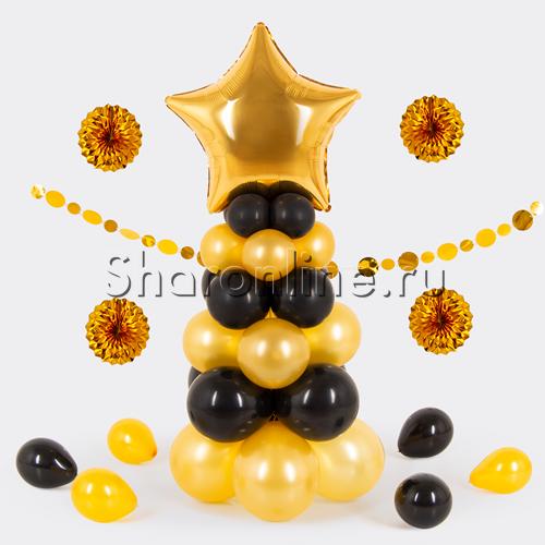 """Фото №1: Столбик из шаров """"Маленькая звезда"""""""