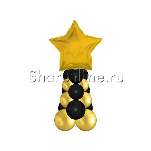 """Фото №2: Столбик из шаров """"Маленькая звезда"""""""