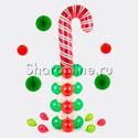 """Фото №1: Столбик из шаров """"Новогодняя конфета"""""""