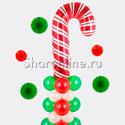 """Фото №2: Столбик из шаров """"Новогодняя конфета"""""""