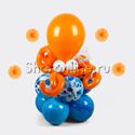 """Фото №1: Столбик из шаров """"Осьминог"""""""