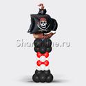 """Фото №2: Столбик из шаров """"Пиратский корабль"""""""