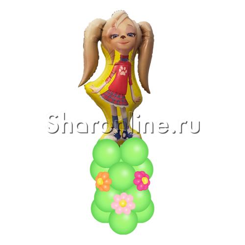 """Фото №2: Столбик из шаров """"Роза"""" Барбоскины"""