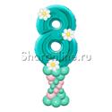 Фото №2: Столбик из шаров с цифрой и декором