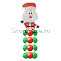 "Фото №1: Столбик из шаров ""Санта Клаус"""