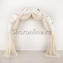 """Фото №1: Свадебная арка """"Кремовый рассвет"""""""