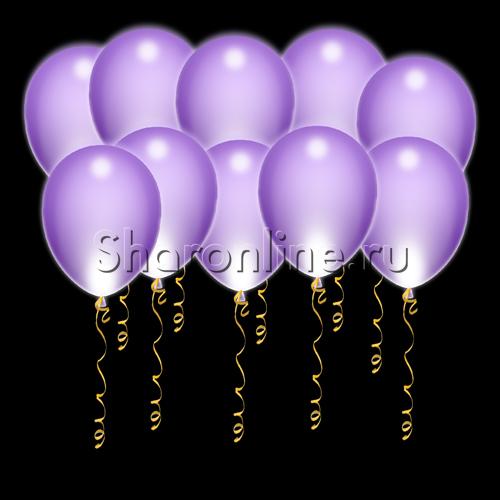 Фото №1: Светящиеся фиолетовые шары с диодами