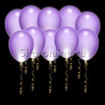 Светящиеся фиолетовые шары с диодами