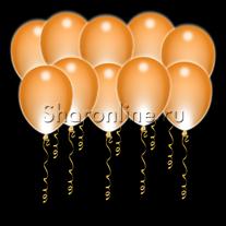 Светящиеся оранжевые шары с диодами