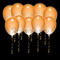 Фото №1: Светящиеся оранжевые шары с диодами