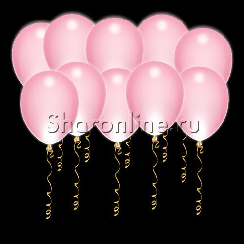Фото №1: Светящиеся розовые шары с диодами