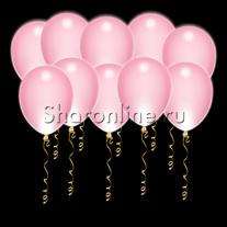 Светящиеся розовые шары с диодами