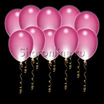 Светящиеся шары цвета фуксия с диодами