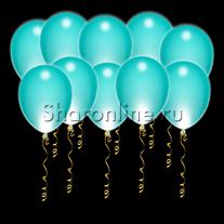 Светящиеся шары цвета тиффани с диодами