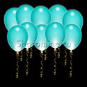 Фото №1: Светящиеся шары цвета тиффани с диодами
