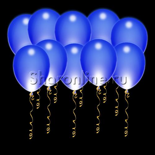 Фото №1: Светящиеся синие шары с диодами