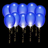 Светящиеся синие шары с диодами