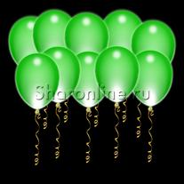 Светящиеся зеленые шары с диодами