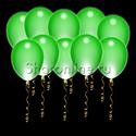 Фото №1: Светящиеся зеленые шары с диодами