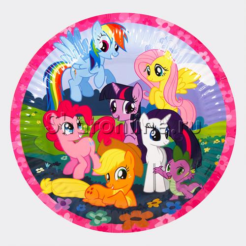 """Фото №1: Тарелки """"Моя маленькая пони"""" 8 шт"""