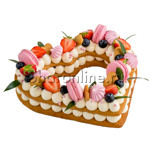 "Фото №1: Торт ""Нежное сердце"" 0,8 кг"