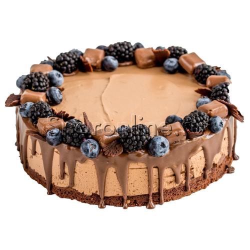 """Фото №1: Торт """"Шоколадно-карамельный"""" 1,6 кг"""