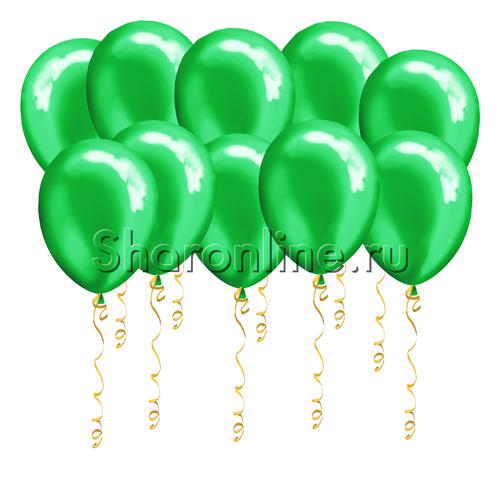 Фото №1: Зеленые шары металлик