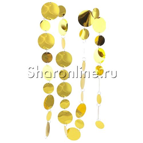Фото №1: Золотая цепочка из пайеток 2 м